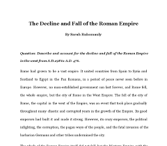 the causes for the decline and fall of the r empire gcse  document image preview