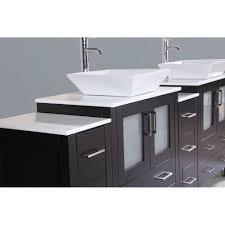 Contemporary 84 inch Espresso Finish, Double Square Sink Bathroom ...