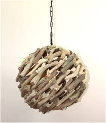 driftwood 15 ball pendant chandelier ceiling mount light custom nautical rustic
