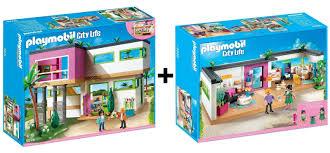 Details Zu Playmobil City Life 5574 Moderne Luxusvilla 5586 Gästebungalow Neu Ovp