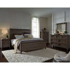 king bedroom set. driftwood classic shaker 6 piece king bedroom set - talbot