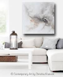 giclee print art abstract grey white painting coastal canvas prints modern neutral wall art on wall art canvas for living room with giclee print original art white grey abstract painting modern wall