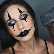 creepy clown makeup idea for women
