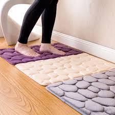 honana bx 212 3d pebbles bath rug natural absorbent rubber bath mat bottom cotton rebound mat cod