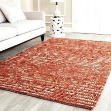 6 square rug hand knotted vegetable dye chunky rust hemp rug 6 x 6 6 square