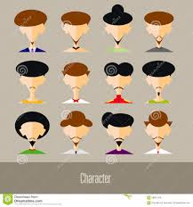 Face Design App The Flat Design Avatar App Icons Set User Face People Man