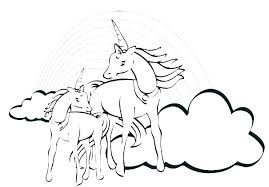 Unicorn Rainbow Coloring Pages Colouring Pictures Of Baby Unicorns