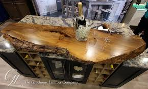 custom english wych elm natural edge countertop in oh