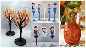 Wine Glass Decorating Designs 100 Painted Wine Glass Ideas To Try This Season 53