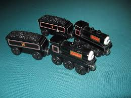 thomas friends wooden railway train donald and douglas with tenders used 1883912164