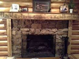 log cabin fireplace ideas home photos pics mantel
