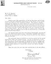 Appreciation Letter Us Army Letter Of Appreciation To Bill Hargiss