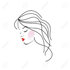 ウェーブのかかった髪の女の子のイラストのイラスト素材ベクタ Image