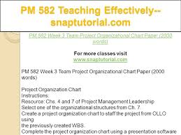 Pm 582 Teaching Effectively Snaptutorial Com Ppt Download