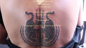 Thai Tattoo Twin Tiger And Five Lines Hah Taew Skin Diver Sweden