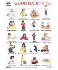 Good Habits Chart For School Tricolor Books Big Good Habits Chart English