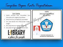 Kartu buku contoh perangkat administrasi perpustakaan sekolah dasar dan menengah atas buku perpustakaan sekolah dasar. Cetak Kartu Perpustakaan Format Microsoft Words Doc Blog Guru Kelas