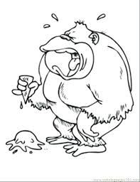 Spider Monkey Coloring Page Spider Monkey Coloring Pages Animal
