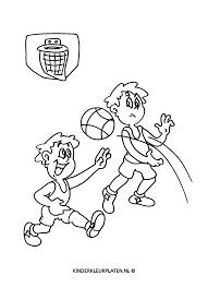 Kleurplaat Basketbal Sport