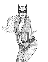 Small Picture Catwoman Coloring Pages SketchColoringPrintable Coloring Pages