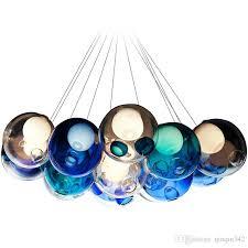 modern crystal chandelier colorful glass ball led pendant lamp for dining room living room bar g4 led bulb ac 85 265v chandelier crystal chandelier pendant