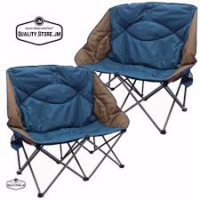 double camping chair camp set folding loveseat for and kids outdoor sofa