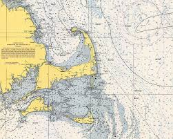 Vintage Nautical Charts Vintage Cape Cod Nautical Chart 1945h