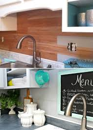 cheap kitchen backsplash ideas. Exellent Cheap Peel And Stick Faux Wood Backsplash To Cheap Kitchen Backsplash Ideas A