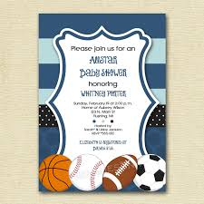 Sports Baby Shower Invitations  MarialonghiComBaby Shower Invitations Sports Theme