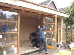 building a garden office. garden office build in progress by the escape 9jpg building a g