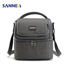 <b>SANNE 7L</b> Double Decker Cooler Lunch Bags Insulated Solid ...