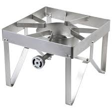 bring the convenience of stove top cooking outdoors with backyard pro stainless steel single burner outdoor