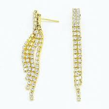 beautiful gold fringe chandelier or illuminate rhinestone fringe chandelier earrings gold tone 18 black and gold