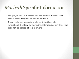 macbeth by william shakespeare ppt video online  macbeth specific information