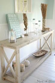 vintage entryway furniture. love this as an entryway table or behind a couch in living room diy create the look of weathered wood with stain vintage furniture
