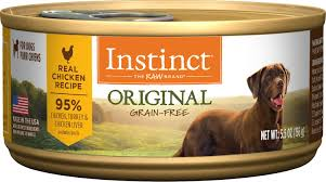 Instinct By Natures Variety Original Grain Free Real Chicken Recipe Natural Wet Canned Dog Food 5 5 Oz Case Of 12