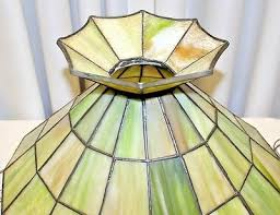 4 of 6 pair 18 vintage slag glass hanging lamp design green pomona color nice tulips