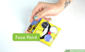 image titled face paint step 1
