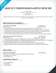 Sample Professor Resume Resume Samples Professors For Education Assistant Professor Sample