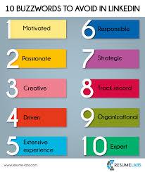 Good Resume Words To Describe Yourself Buzzwords Linkedin Resumelabs Www Resume Labs Com Resume