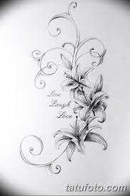 черно белый эскиз тату лилия 09032019 025 Tattoo Sketch