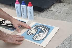Stenciling Spray Paint Music Themed Urban Spraypaint Stencil Graffiti Wall Art Stencil 1