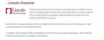 Term Life Insurance Rates Chart Best Life Insurance For Seniors Over 70 No Medical Exam