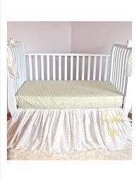 full size of crib skirt baby metallic gold blanket bedding ruffle polka dot