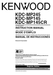 kenwood kdc mp manual kenwood kdc mp145 user manual