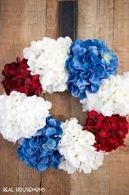 patriotic wreaths for front doorDIY Patriotic Wreath  Real Housemoms