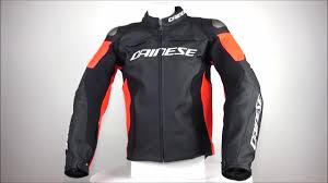 dainese racing 3 leather jacket black fluo red free