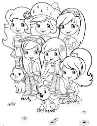 Small Picture Strawberry Shortcake And Friends Coloring Pages To Print Inside