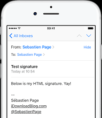 Email Signature Html How To Create Html Email Signatures On Iphone Or Ipad
