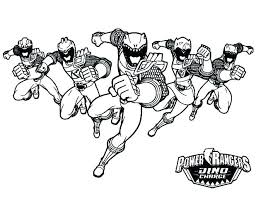 Power Rangers Coloring Pages Dino Charge Red Ranger Spd To Print